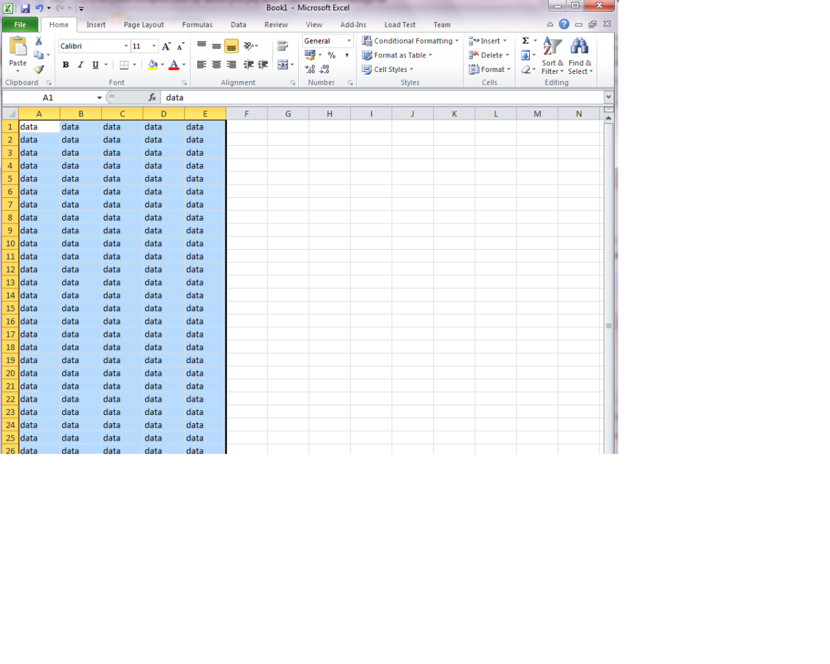 How to read or write excel file using ACE OLEDB data